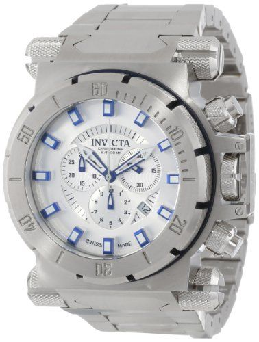Men's Wrist Watches - Invicta Mens 14008 Coalition Forces Chronograph Silver Dial Stainless Steel Watch -- Check out this great product.