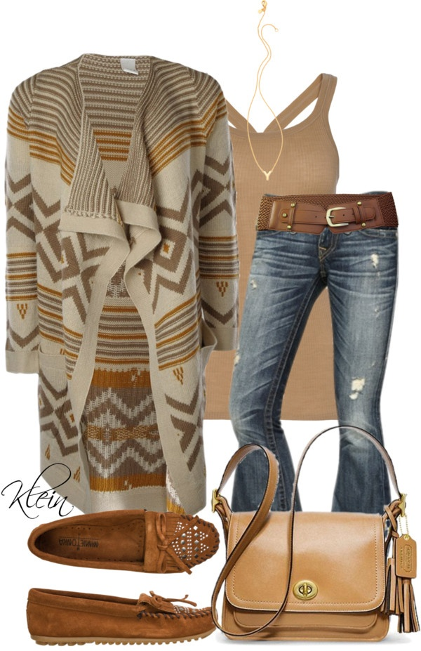 """Aztec Sweater"" by stacy-klein ❤ liked on Polyvore"
