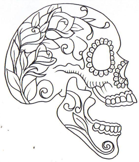 sugar skull coloring pages princess - photo#7