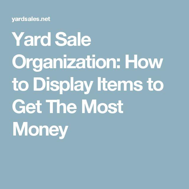 25+ Best Ideas About Yard Sale Displays On Pinterest