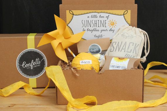 Box of Sunshine - Surprise Ball Gift Box // Get Well Gift // Thinking of You Gift // Thank You Gift // Send a Gift // College Care Package