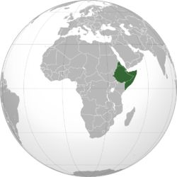 """Location of The Horn of Africa - Meaning: """"God's Land.""""  (The Ancient Egyptians Named it: """"Ta Netjeru"""" Definition: God's Land.)"""
