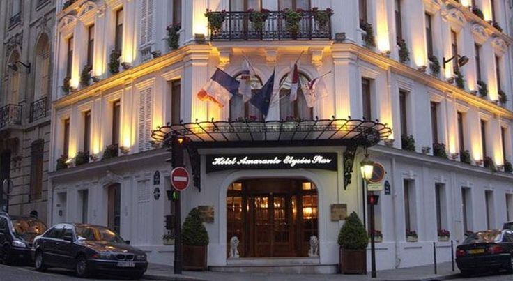 Amarante Champs-Elysées Paris Set in a Haussmannian-style building, this luxury hotel is located beside the Champs-Elysées and Avenue George V. It features a piano bar and the elegant guest rooms include an LCD TV and a minibar.