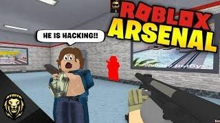 HE THINKS I'M HACKING in Arsenal (ROBLOX) | Roblox | Video