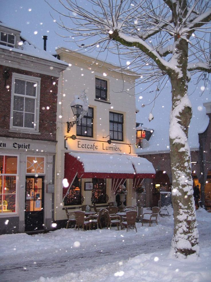 Winter wonderland picture of Eetcafe Lumiere Utrecht, Netherlands. Recommended by Rough guide for high tea.