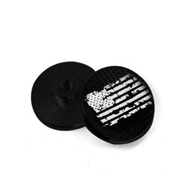 EDC Fidget Spinner Bearing Shield Set Upgrade: Aluminum Laser Engraved US Flag