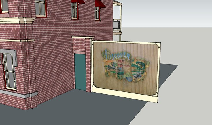 Disneyland Fire Department in 3D side gate