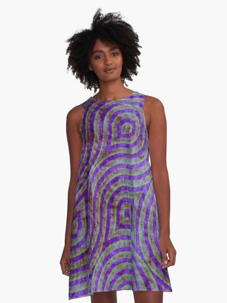 Oriental Moroccan pattern A-Line  Dress by Scar Design.  Inspired by oriental philosophy and art. #cool #awseome #gifts #purple #violet  #giftideas #39 #moroccan  #dress #fashion #style #giftsforher #family #women #woman #alinedress #modern #redbubble #scardesign #art #artist #shopping #online #clothing #oriental #purple