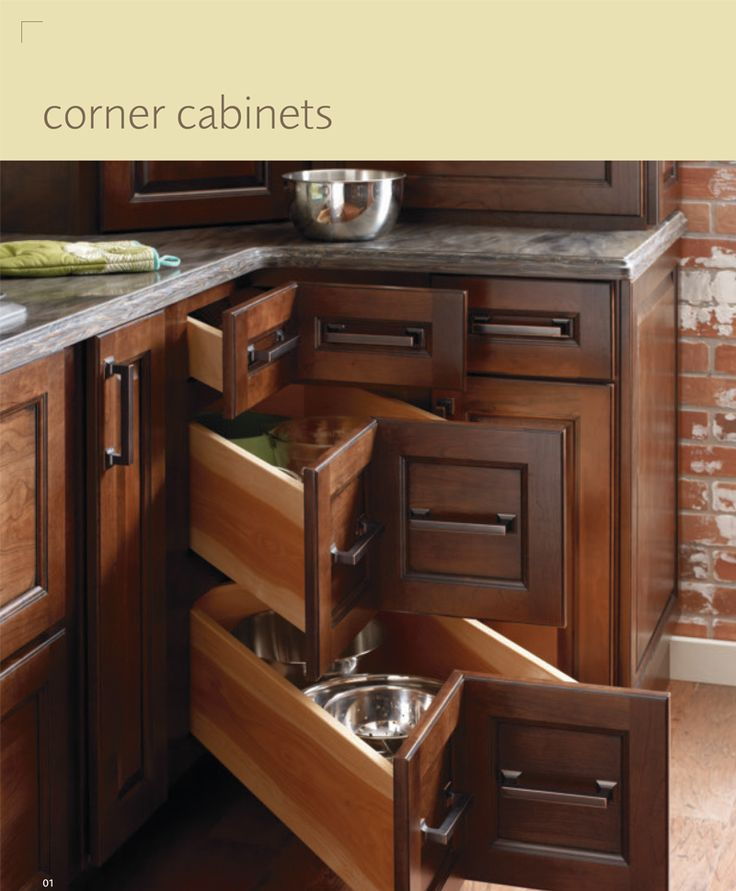 Kitchen Furniture Corner: Corner Cabinet Drawers