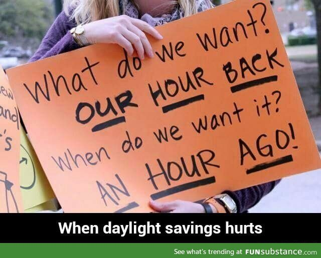 When daylight savings hurts