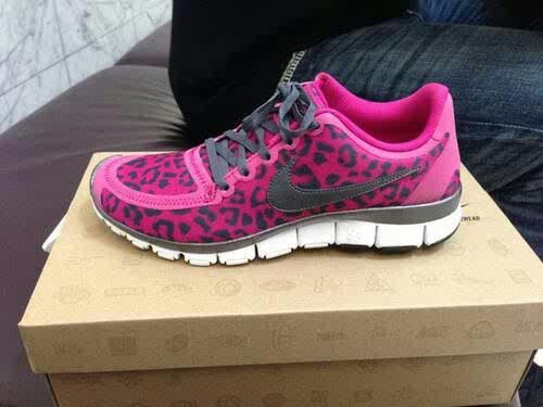 yes pink cheetah print nikes
