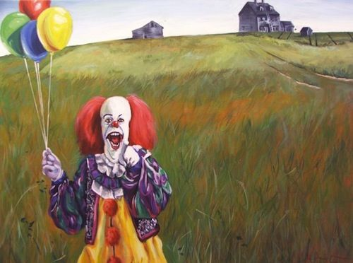 Artist Fuses Pop Culture Icons Into Famous Paintings - Ronald McDonaldArtists, Hillary White, Art Sul-Africana, Illustration, Art Prints, Pennies, Art Pop, White Rabbit, Clowns