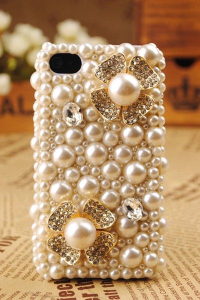 pearl phone case: Cell Phones Cases, Iphone Cases, Iphone 4S, Style, Pearls Iphone, Iphone Covers, Cell Phones Covers, Things, Flower