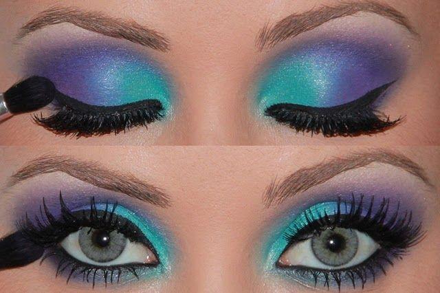 rAvE make UpMake Up, Eye Makeup, Eye Shadows, Mermaid Eye, Katy Perry, Purple Eyeshadow, Blue Eye, Eyemakeup, Eyeshadows