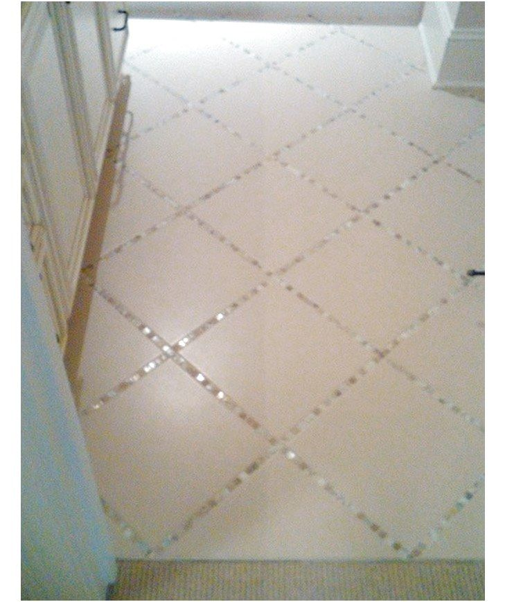 Glass Tiles Instead Of Grout In The Bathroom Tile Floor Diy Home