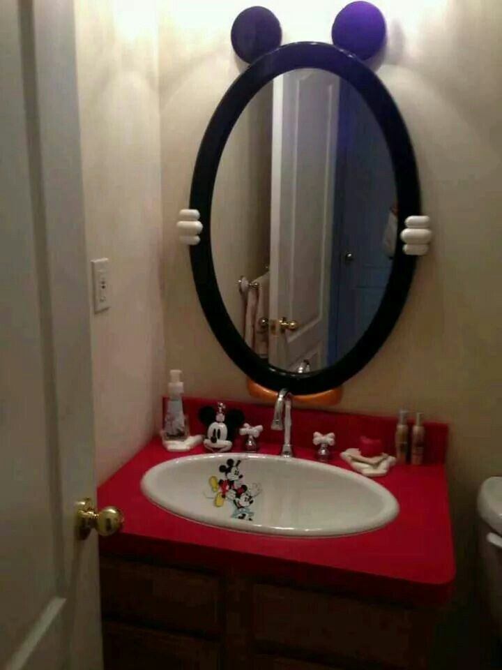 Another cool Mickey mouse,mirror,sink