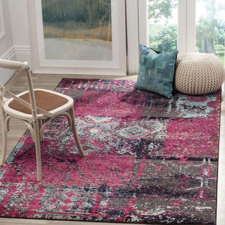 Pink Area Rug 5X7 Carpet Modern Floor Runner Contemporary Indoor Throw Bedroom  #PinkAreaRug #ModernContemporary