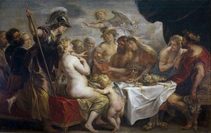 Golden Apple of Discord by Jacob Jordaens - Eris (mythology) - Wikipedia, the free encyclopedia