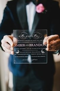 Plexiglass   16 Alternative Wedding Invitations And Save The Dates