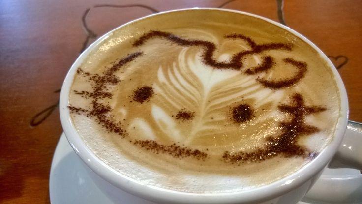 Full of aroma, nice texture, tasty #Cappuccino @ #HelloKittyGourmet #SunwayPyramid