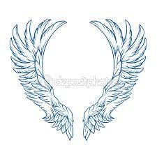 Resultado de imagen para tatuaje alas negro y azul