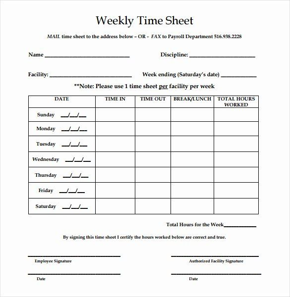 Free Weekly Time Card Template Lovely Printable Employee Timesheet Printable Page In 2020 Free Business Card Templates Timesheet Template Free Printable Card Templates