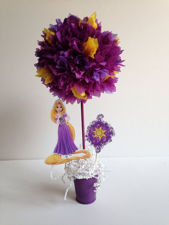 Princess Rapunzel birthday party decoration, tangled, centerpiece, centerpieces, Rapunzel, tangled