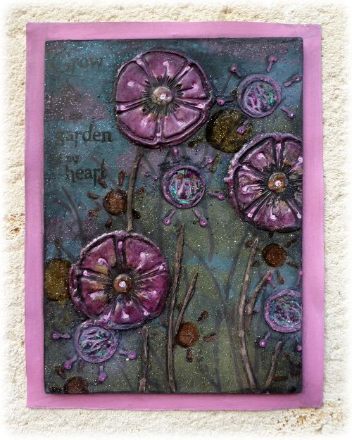 PaperArtsy: 2017 #14 Glitter: Midnight Fairy Garden with EDY {by Dounia Large}