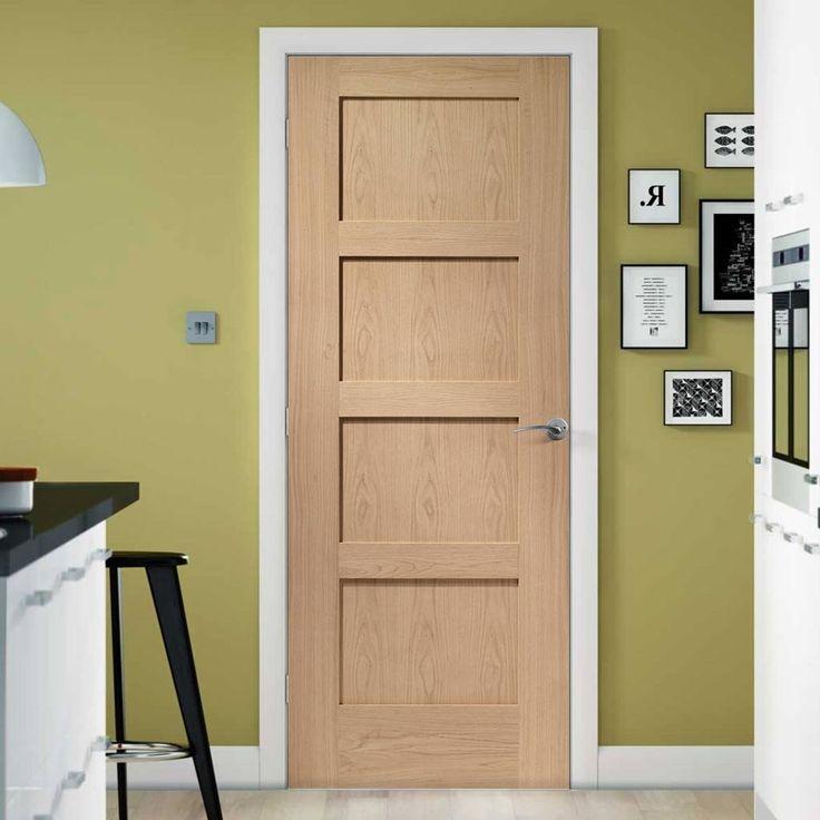 Simpli Door Set, Shaker Oak 4 Panelled Door - Prefinished. #shakerdoorset #shakerdoor #oaksimplishAKERDOOR