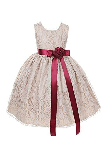 Cinderella Couture Girls Champagne Lace Dress with Burgundy Sash & Flw 4 (1132) Cinderella Couture http://www.amazon.com/dp/B00LJAQVOO/ref=cm_sw_r_pi_dp_JblEvb1QYNQT1
