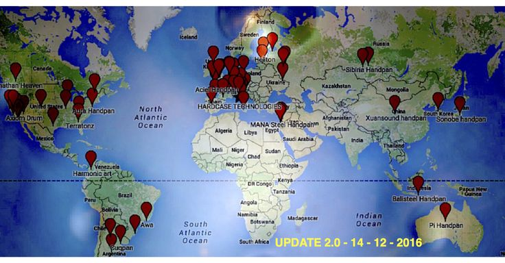Paninvasion 2.0 – Handpan World Maps new Updating – Over then 110 Pan Maker Around the world.  Yep.. OVER THEN 110 Maker at work … WOWOOO Anyway Full of work today for update the Google Maps and all handpan maker around the world and was a BIG Surprise to see how [...]