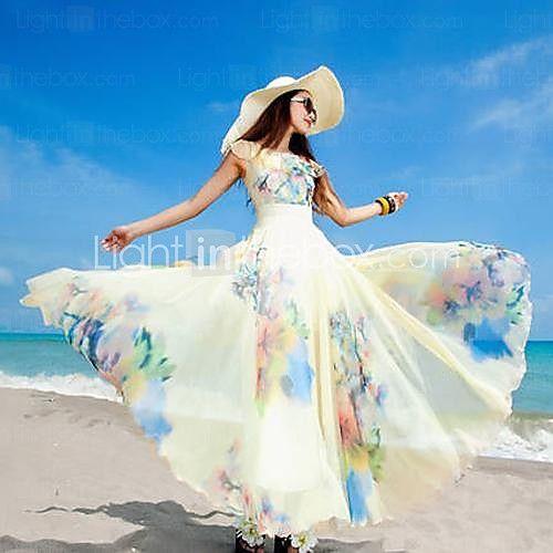 Μάξι - Παραλία/Μάξι - Φόρεμα - Σιφόν - EUR €23.51