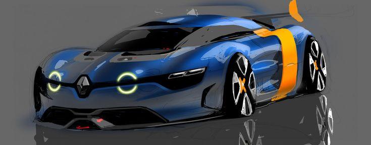 Renault Alpine A110 50 Concept - Design Sketch