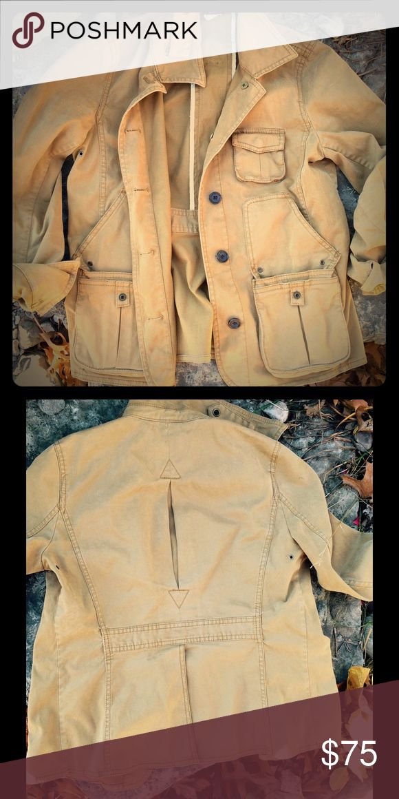 Women's JCrew Utility Jacket Fabulous soft tan utility jacket by JCrew. Button closure. Vented back. 97%cotton/3%Elastene. Dry clean. Excellent condition. J. Crew Jackets & Coats Utility Jackets