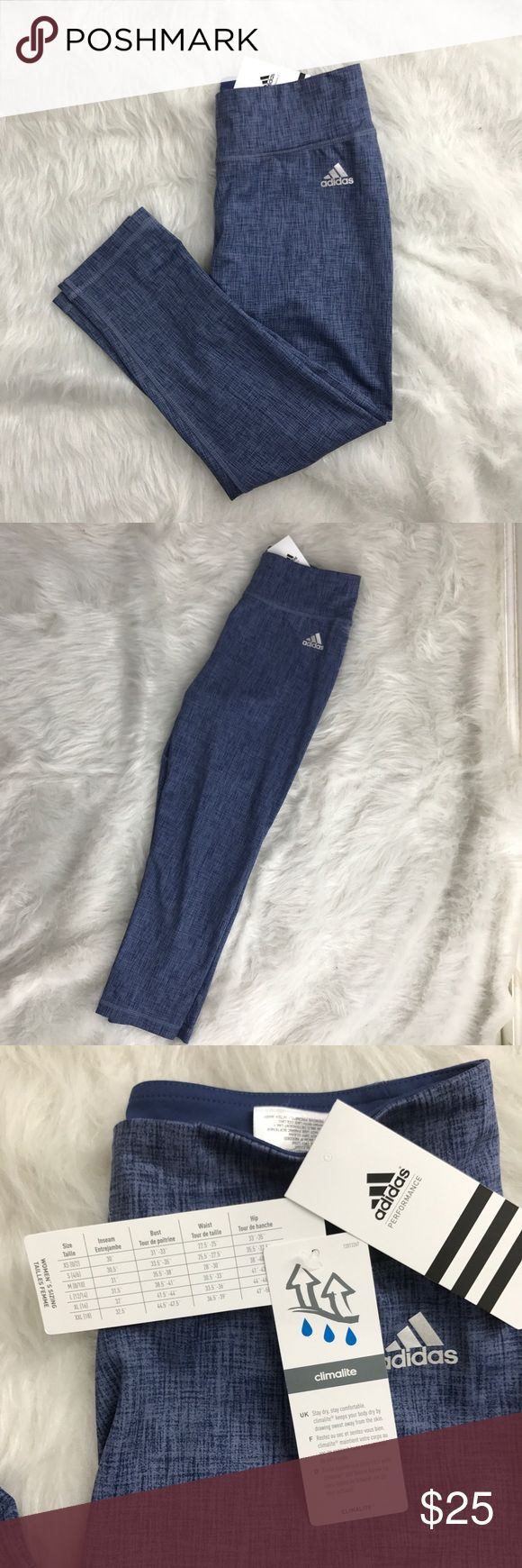 NWT Adidas climate control crop leggings NWT. Perfect for biking, running, yoga, lounging and more. No trades. Adidas Pants Leggings