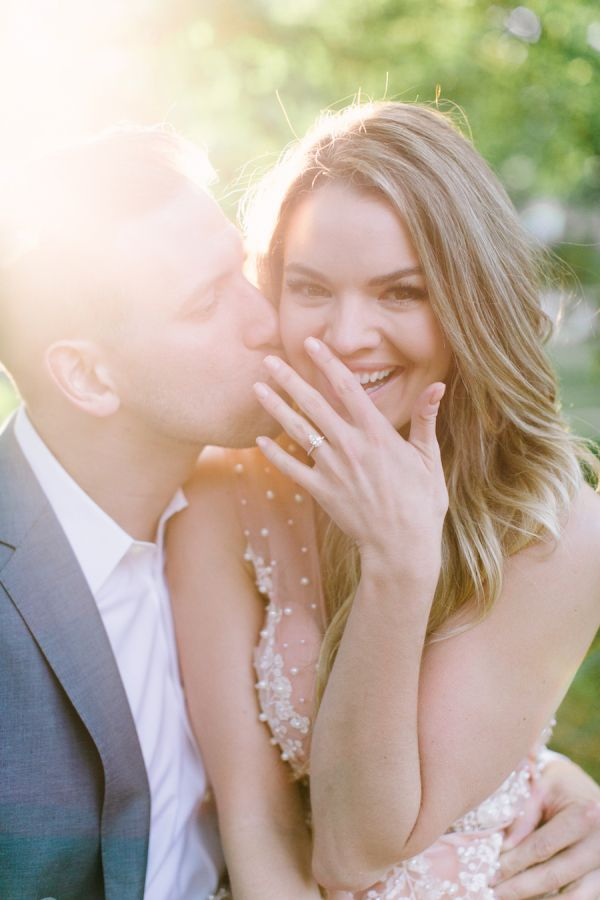 Nikki Ferrell captured America's hearts way back when she won The Bachelor, but now this leading lady has taken her love life offscreen and to the open fields and the results? Unreal. From her beautifully blush ballgown, to their sweet newly engaged