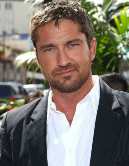Gerard Butler, rough around the edges but cleans up well.
