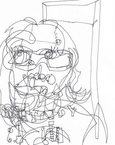 Blind Contour Line Drawing Self Portrait : Best images about drawing on pinterest contour line