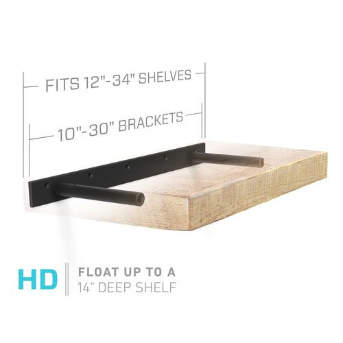 aksel hd 2 rod bracket shelving heavy duty floating shelves rh pinterest com
