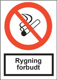 Rygning forbudt, forbud