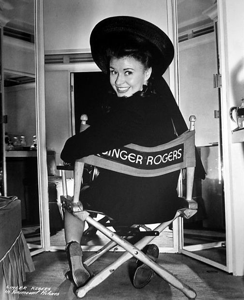 Ginger Rogers ready to shoot a scene of The Major and the Minor