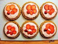 Zdravě a hravě: Cookie tartaletky s jahodami