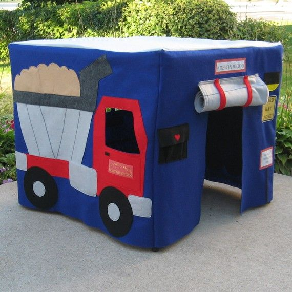 Felt Card Table Playhouse  Construction Site by missprettypretty, $210.00