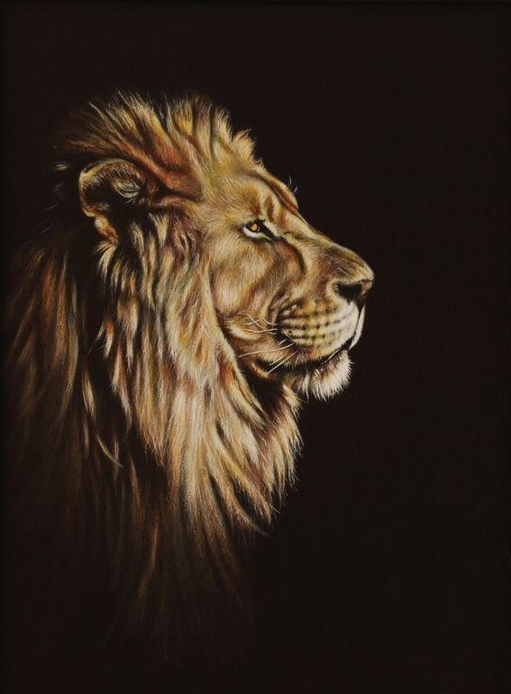"Karl Hamilton-Cox; Acrylic, 2013, ""Lion Portrait"""