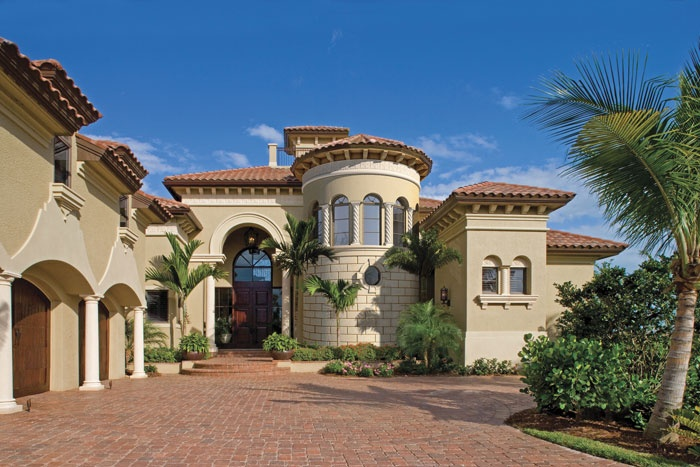 A custom mediterranean home design by the sater group for Custom mediterranean homes
