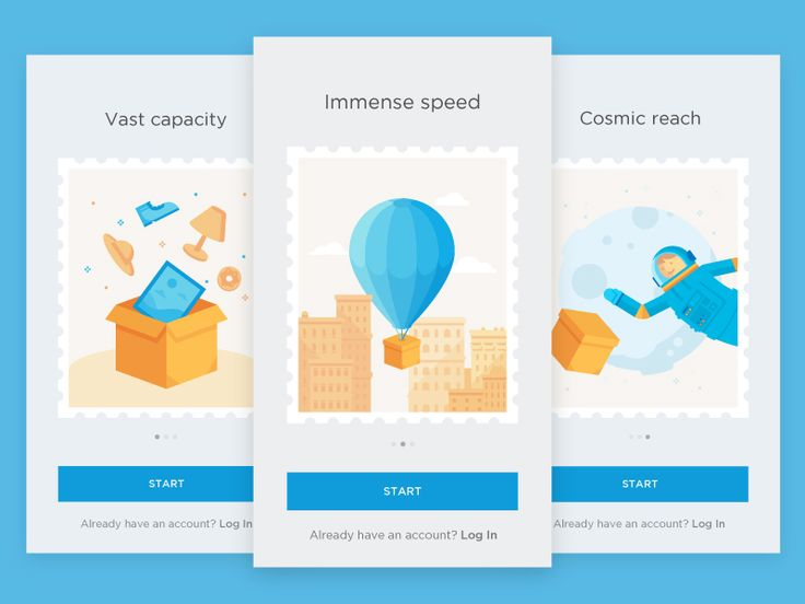 Hi guys!  Did some onboarding screens for delivery app. Check real pixels in attachments :)  Animated version coming soon.