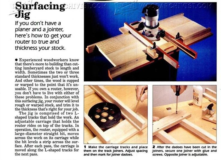 #2241 Router Surfacing Jig - Router
