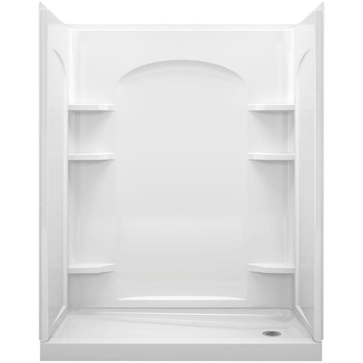 Sterling Ensemble White 2-piece Tongue and Groove Shower Endwall (White)