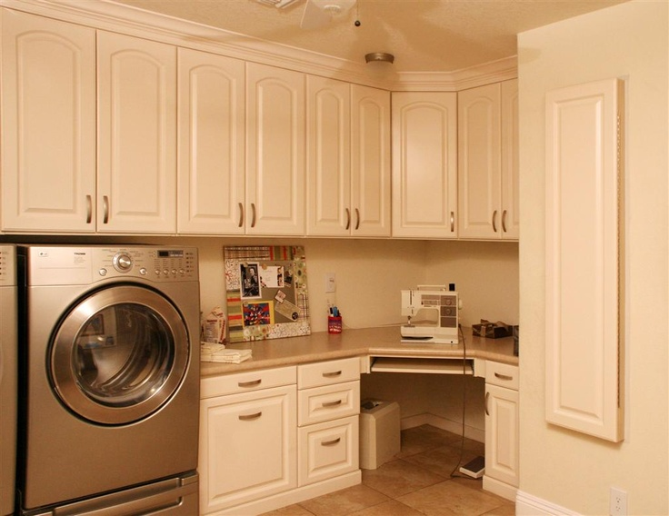 Laundry room with built in ironing board. - would love a {built in} clothes line too, for the things cant dry