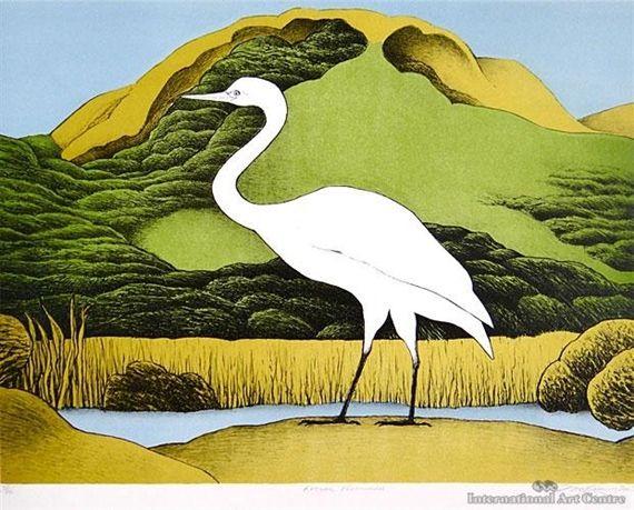 Kotuku Puketotara by Don Binney 2005 lithograph & 70 best NZ Birds images on Pinterest | Beautiful birds New ... 25forcollege.com